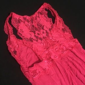 Fleur't got pink lace detail nightgown dress